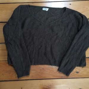 Cropped green sweater— bought at LF